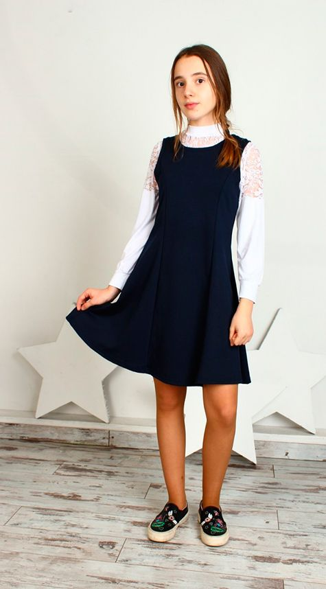 3b731524189 Коричневое школьное платье Темно-синее школьное платье