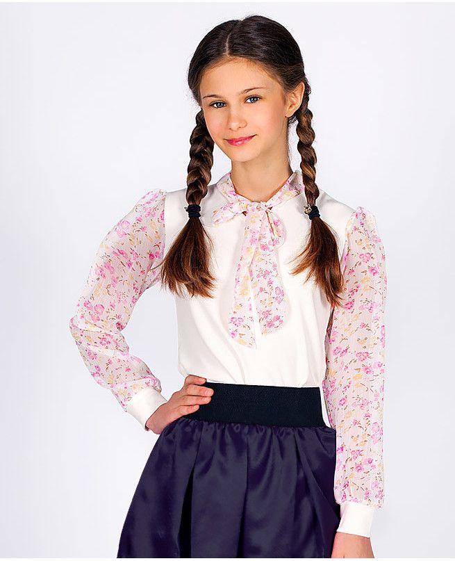 b25d83acd22 Купить детские нарядные блузки для девочек на праздник оптом и в розницу в  Москве недорого